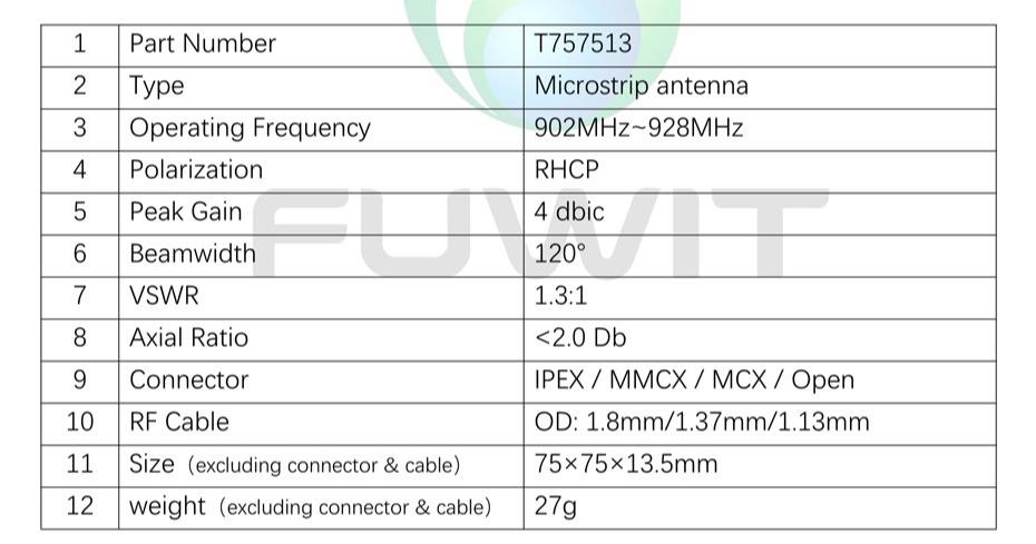 RFID螺旋天线