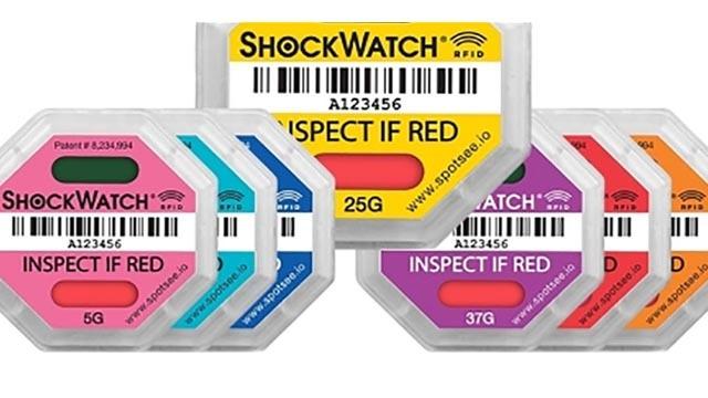 RFID通过震动敏感的货物检测跌落与撞击