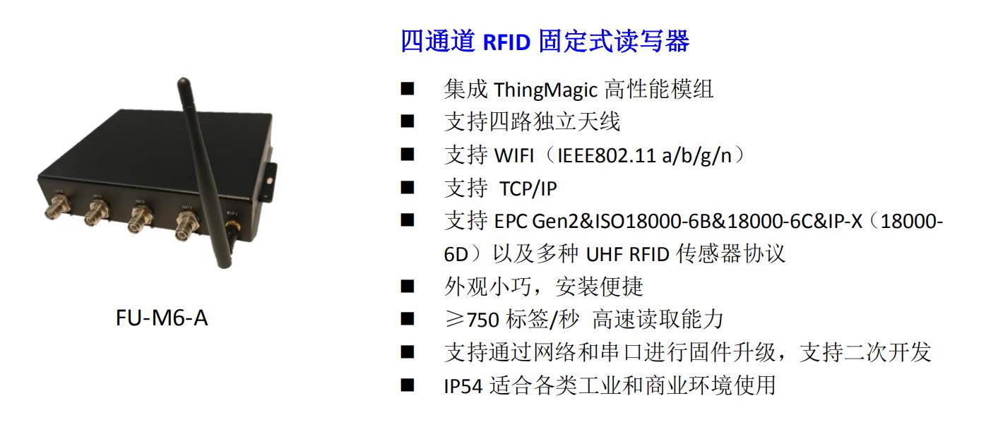 四通道 RFID 固定式读写器